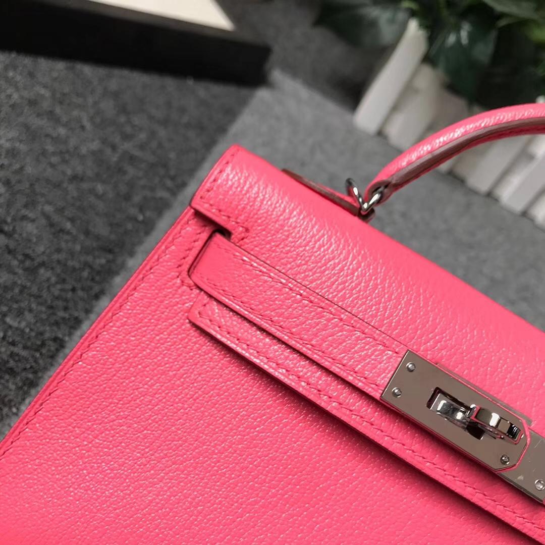 Hermès(爱马仕)U5 唇膏粉 原厂御用顶级山羊皮 Mini Kelly 二代 银扣