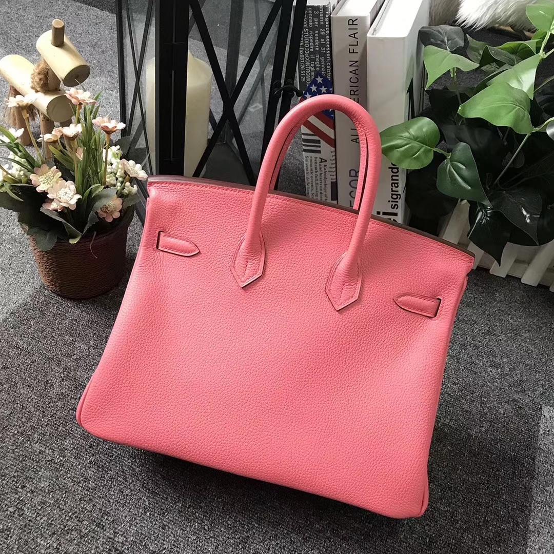 Hermès(爱马仕)8W新唇膏粉 原厂御用顶级小牛皮 Birkin 25 金扣