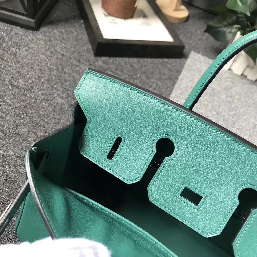 Hermès(爱马仕)U4 丝绒绿 原厂御用顶级Swift 皮 Birkin 25 金扣