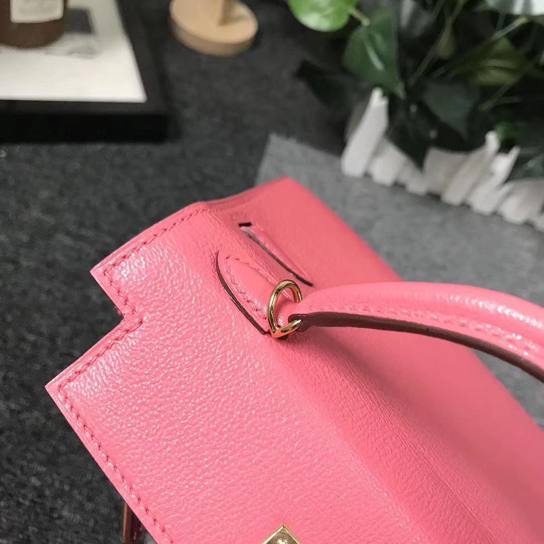 Hermès(爱马仕)8W新唇膏粉 原厂御用顶级Epsom 皮 Mini Kelly 二代 金扣 现货