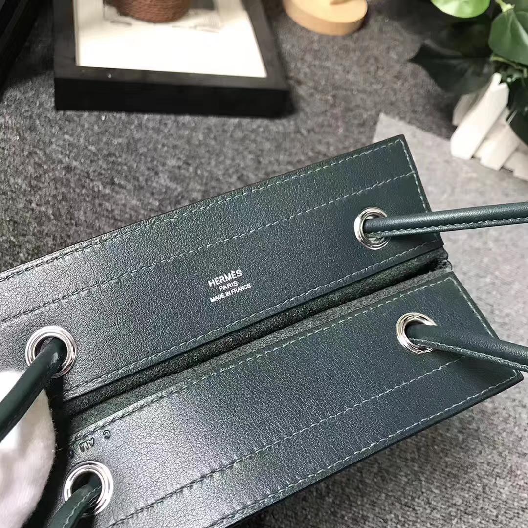 Hermès(爱马仕)6O柏树绿 原厂御用顶级Swift 皮 艾琳包 21cm 现货