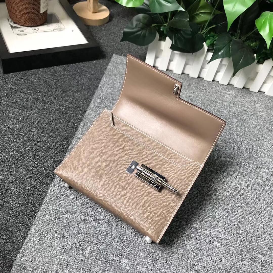 Hermès(爱马仕)CK18 大象灰 原厂御用顶级Epsom 皮 Verrou 插销包 现货