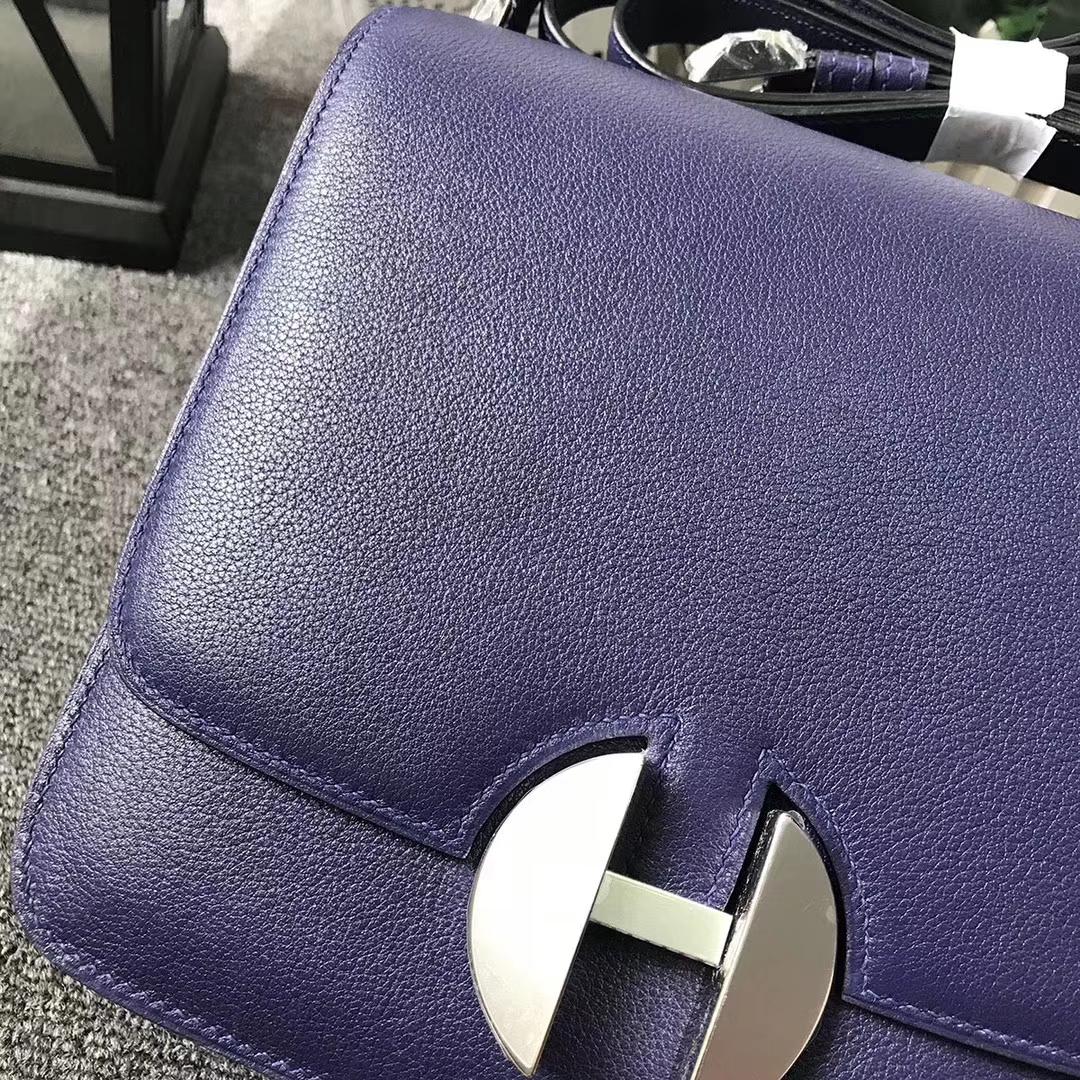 Hermès(爱马仕)7K宝石紫 原厂御用顶级Ever Color 2002-20 银扣 现货