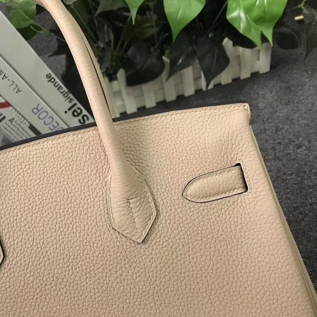 Hermès(爱马仕)Birkin铂金包 CK81 斑鸠灰 原厂御用顶级小牛皮 金扣 30cm 现货