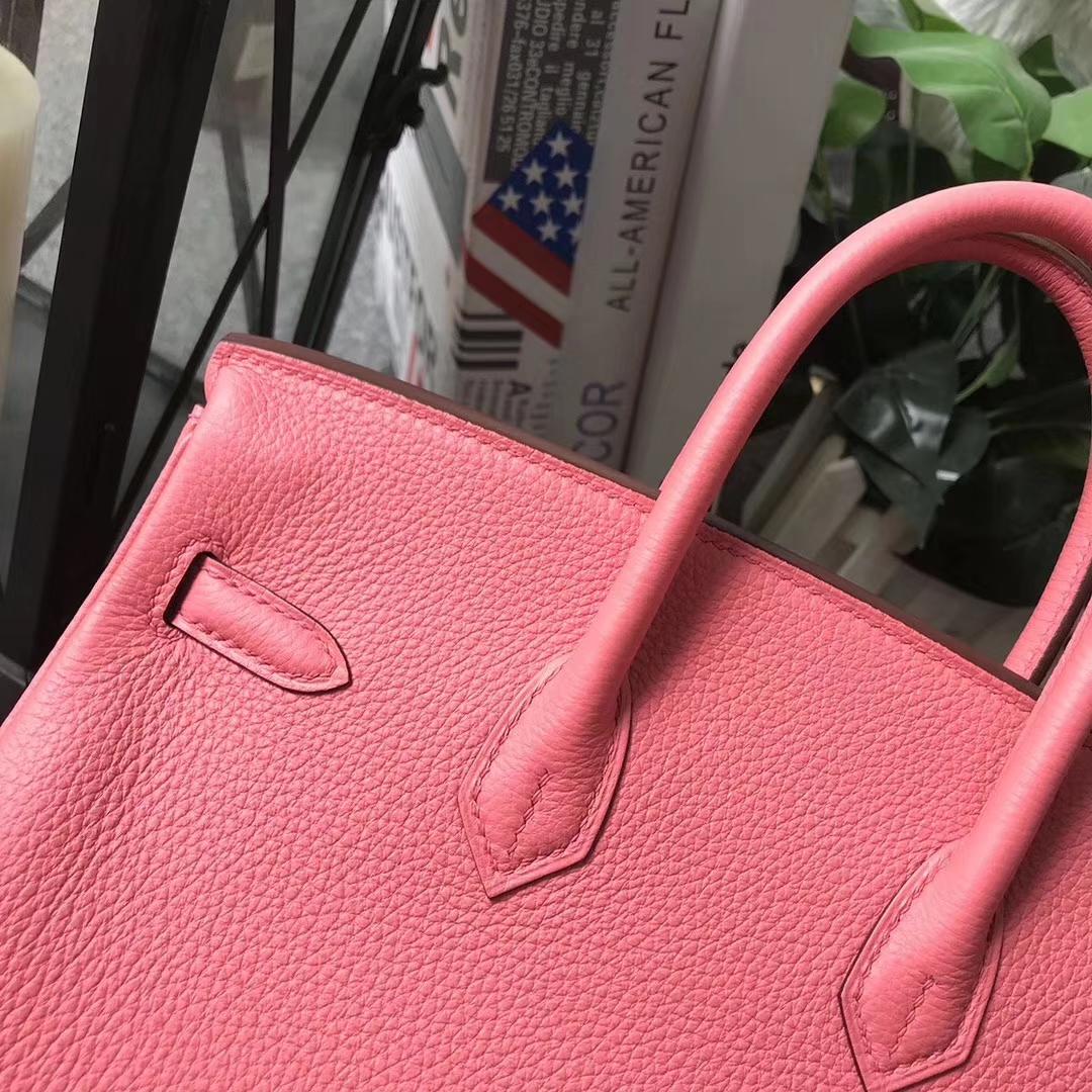 Hermès(爱马仕)Birkin铂金包 8W新唇膏粉 原厂御用顶级小牛皮 25 金扣 现货