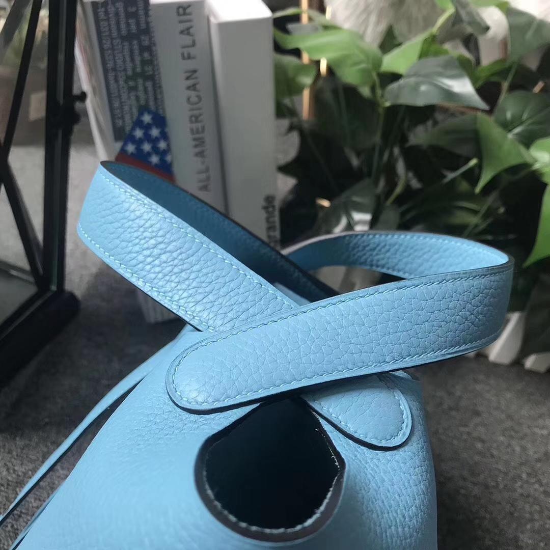 Hermès(爱马仕)Picotin菜篮包 Lock 北方蓝 原厂御用顶级TC 皮 18cm 银扣 现货
