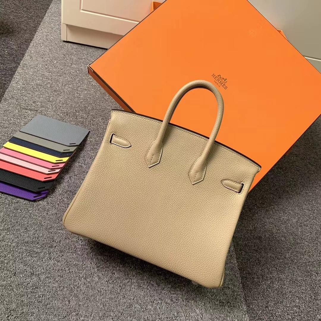 Hermès(爱马仕)S2 风衣灰 原厂御用顶级小牛皮 Birkin 25 银扣 现货