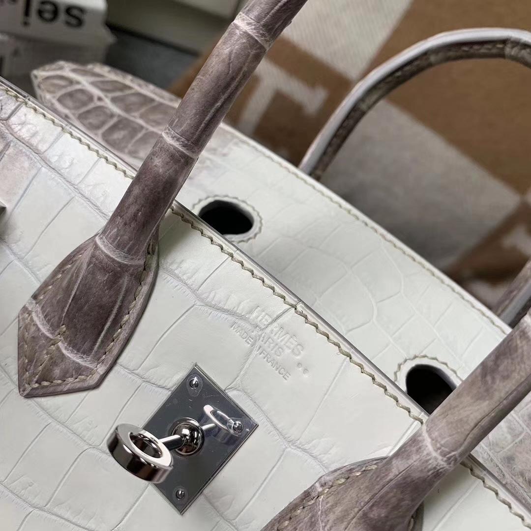 Hermès(爱马仕)Birkin铂金包 喜马拉雅鳄 银扣 25cm