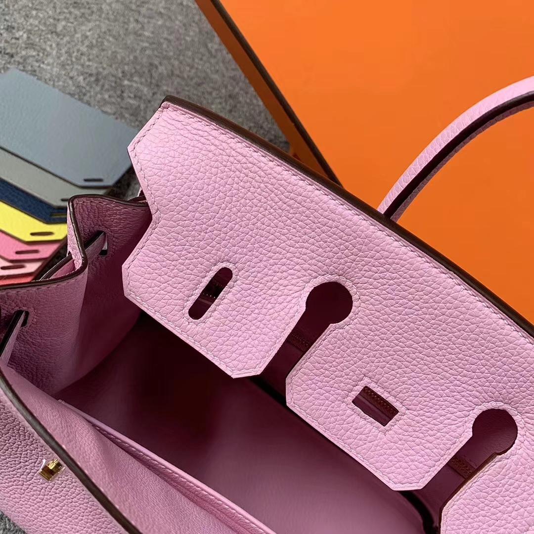 Hermès(爱马仕)X9 锦葵紫 原厂御用顶级小牛皮 Birkin 25 金扣 现货