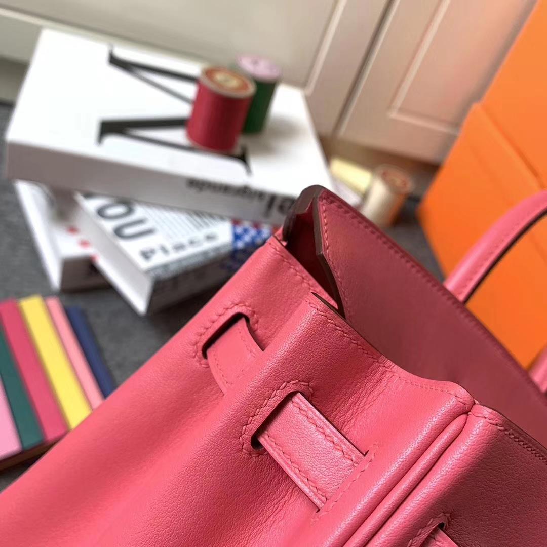 Hermès(爱马仕)8W新唇膏粉 原厂御用顶级Swift 皮 Birkin 25 银扣