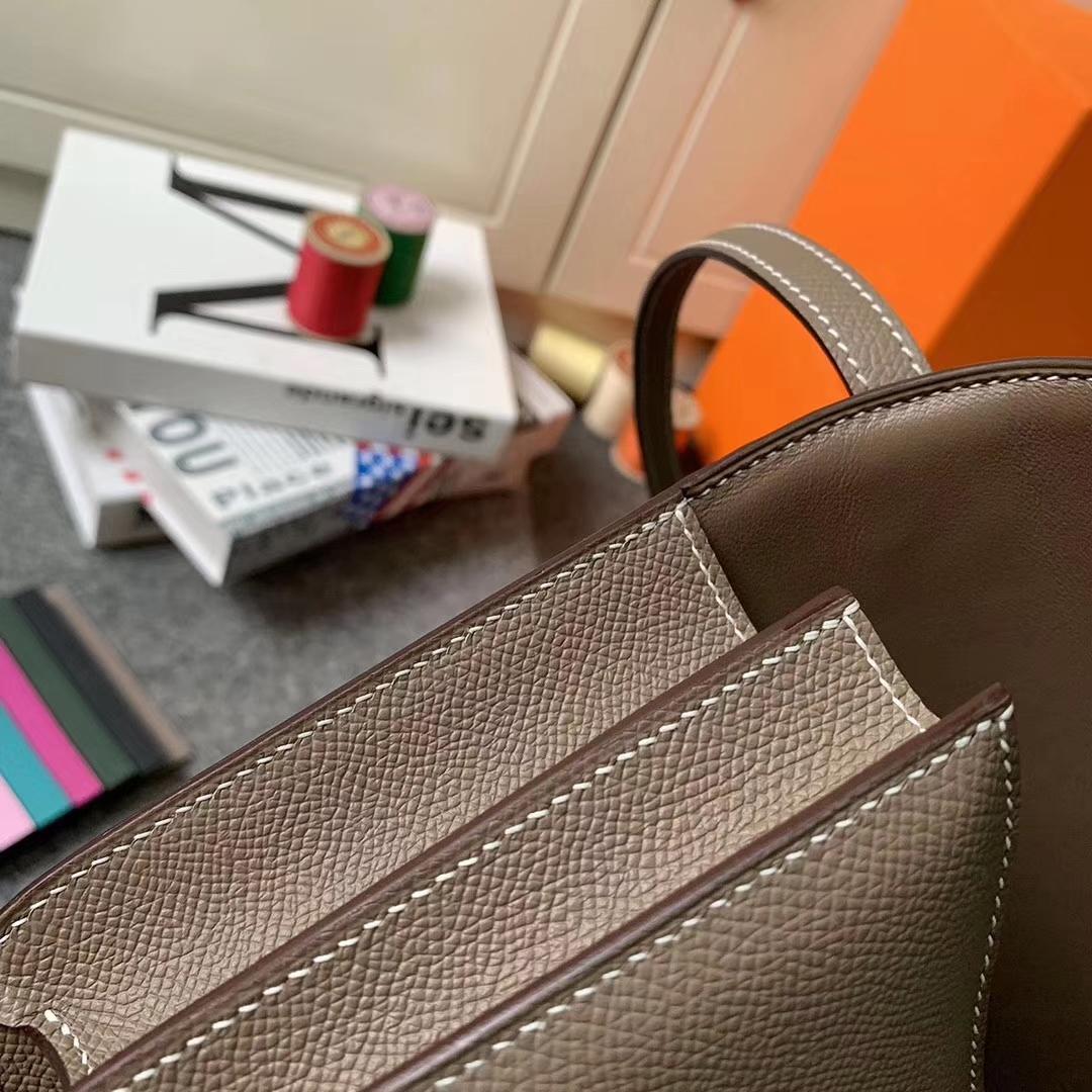 Hermès(爱马仕)CK18 大象灰 原厂御用顶级Epsom 皮 Constance 26 银扣 现货