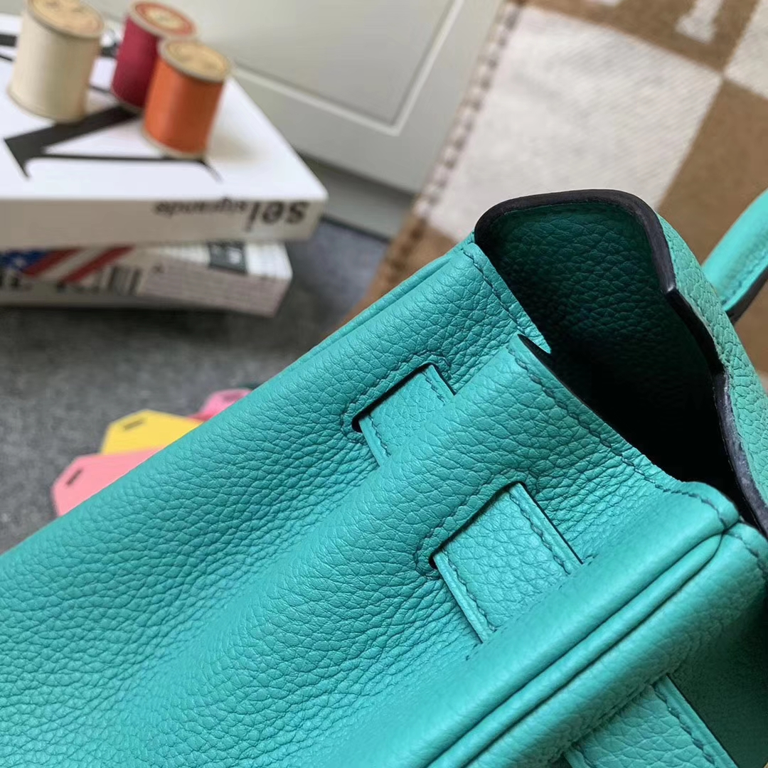 Hermès(爱马仕)U1 罗维娜绿 原厂御用顶级小牛皮 Kelly 28 金扣 现货