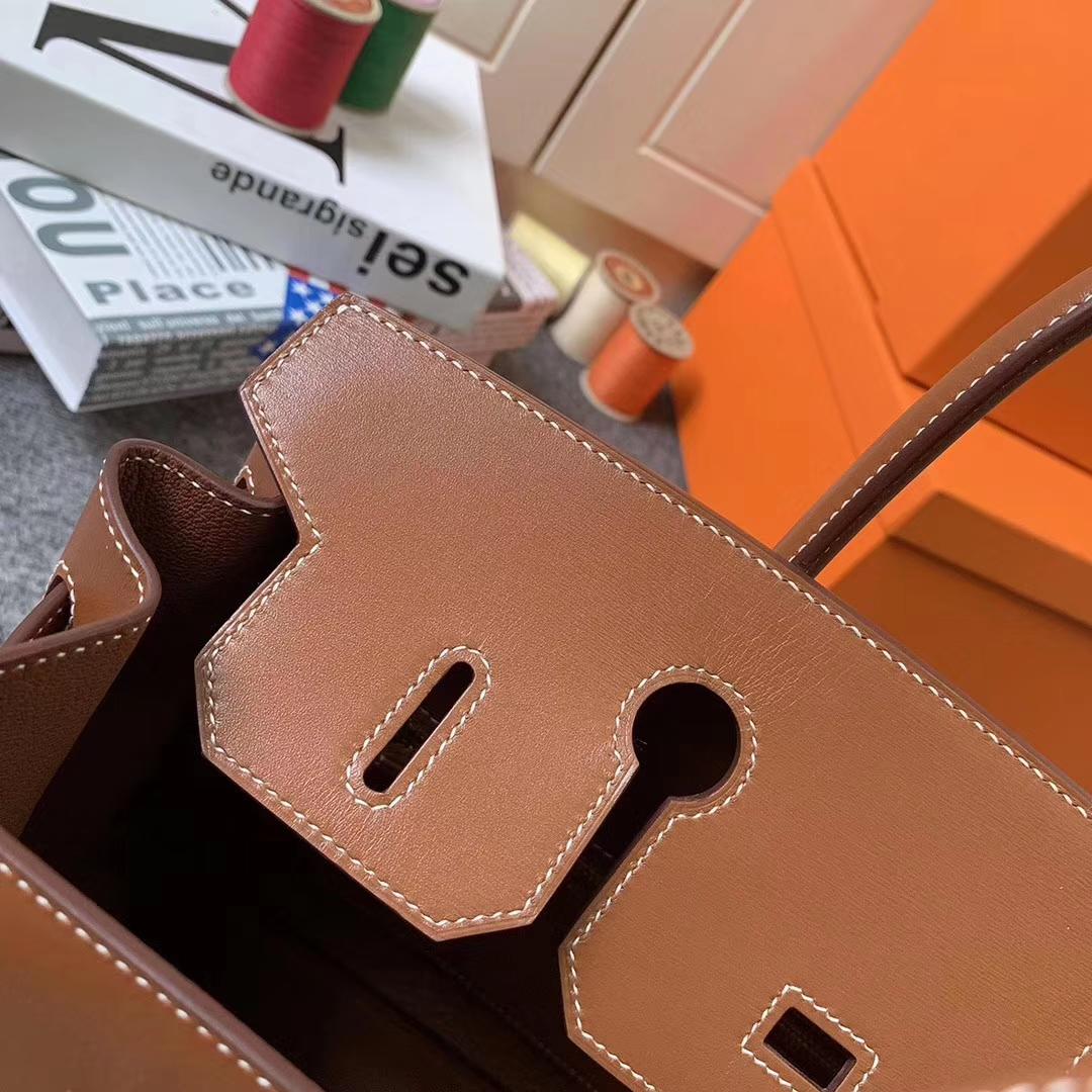 Hermès(爱马仕)C37 金棕色 原厂御用顶级Box 皮 Birkin 30 金扣 现货