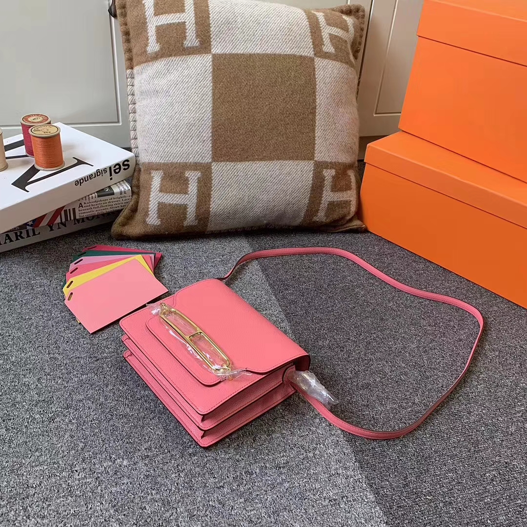 Hermès(爱马仕)8W新唇膏粉 原厂御用顶级Ever color 皮 Roulis 19 金扣 现货