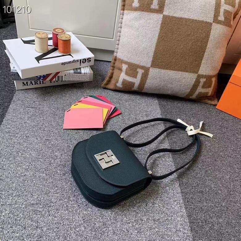 Hermès(爱马仕)松柏绿 原厂御用顶级Epsom 皮 马赛克 银扣