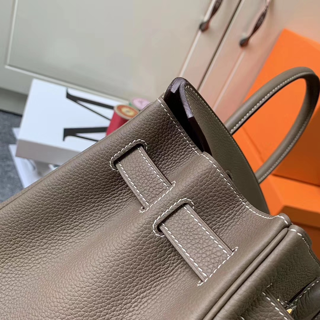 Hermès(爱马仕)CK18 大象灰 原厂御用顶级小牛皮 Birkin 30 金扣 现货