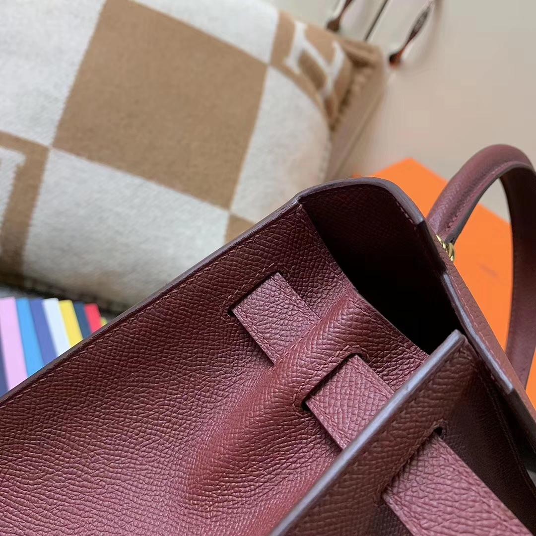 Hermès(爱马仕)深咖啡 原厂御用顶级小牛皮 Birkin 25 金扣