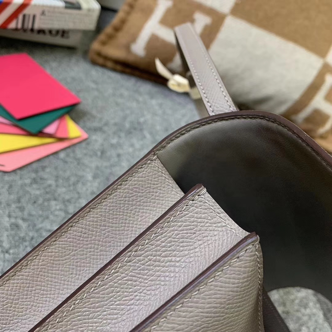 Hermès(爱马仕)M8 沥青灰 原厂御用顶级Epsom 皮 Constance 19 银扣 现货