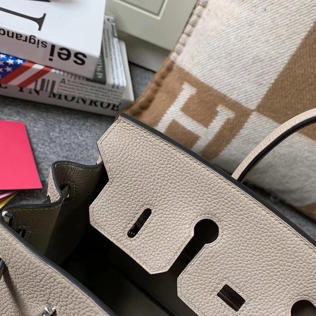Hermès(爱马仕)CK81 斑鸠灰 原厂御用顶级小牛皮 Birkin 25 银扣 现货