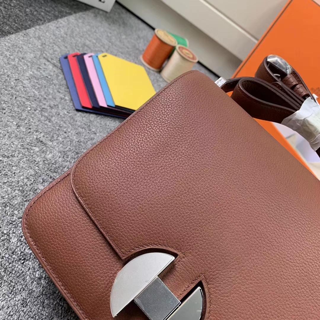 Hermès(爱马仕)6C古铜色 原厂御用顶级Ever color 皮 2002-20 银扣 现货