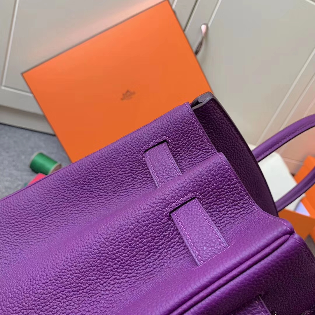 Hermès(爱马仕)P9 海葵紫 原厂御用顶级小牛皮 Birkin 35 银扣