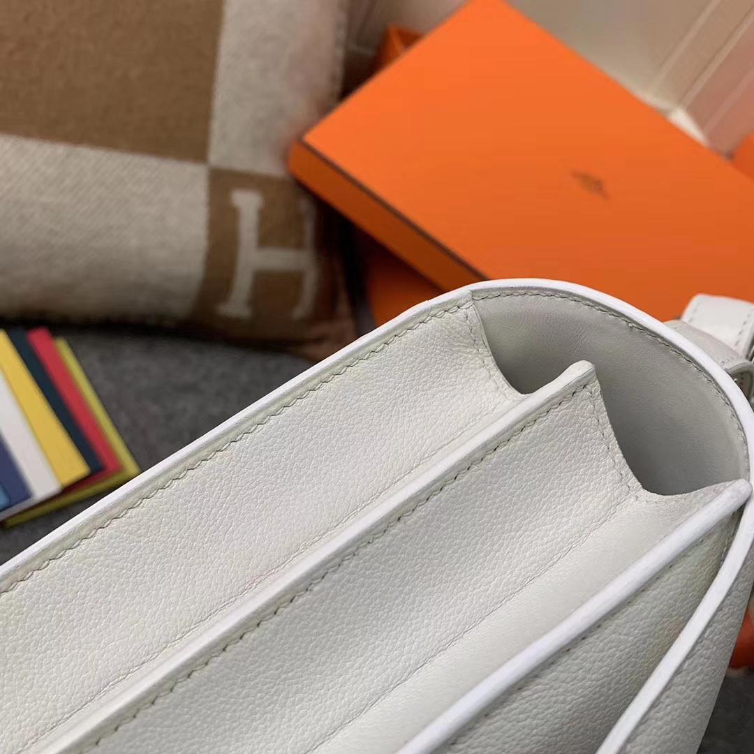 Hermès(爱马仕)纯白色 原厂御用顶级Ever Color 皮 2002-20 银扣