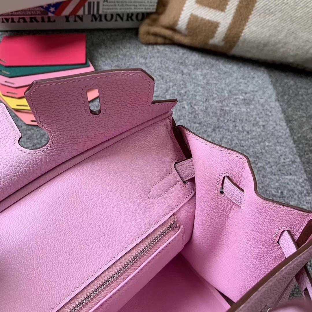 Hermès(爱马仕)Birkin 铂金包 锦葵紫 原厂御用顶级小牛皮 银扣 25cm 现货