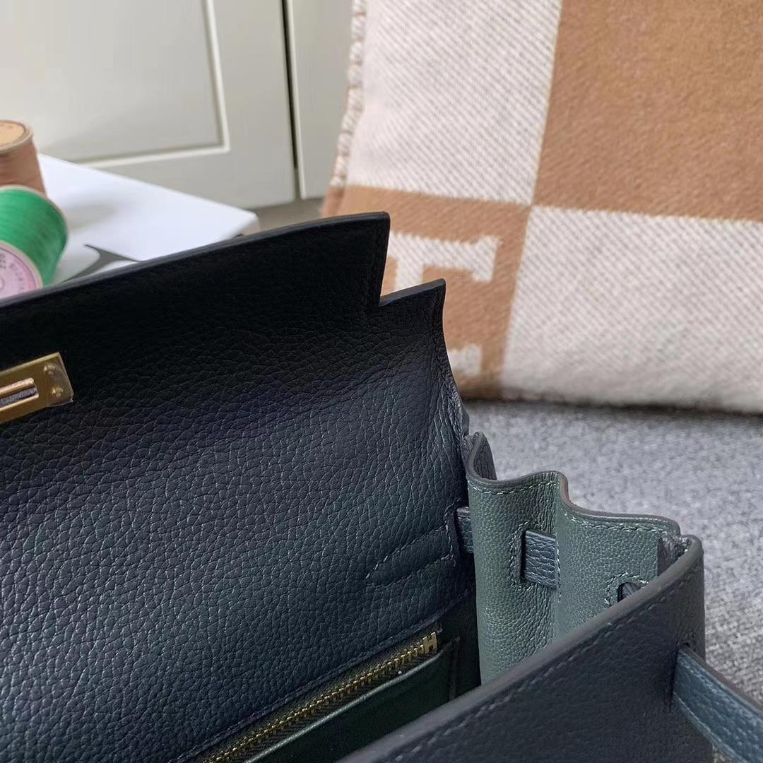 Hermès(爱马仕)CK89 黑色 原厂御用顶级小牛皮 Kelly 25 金扣 现货