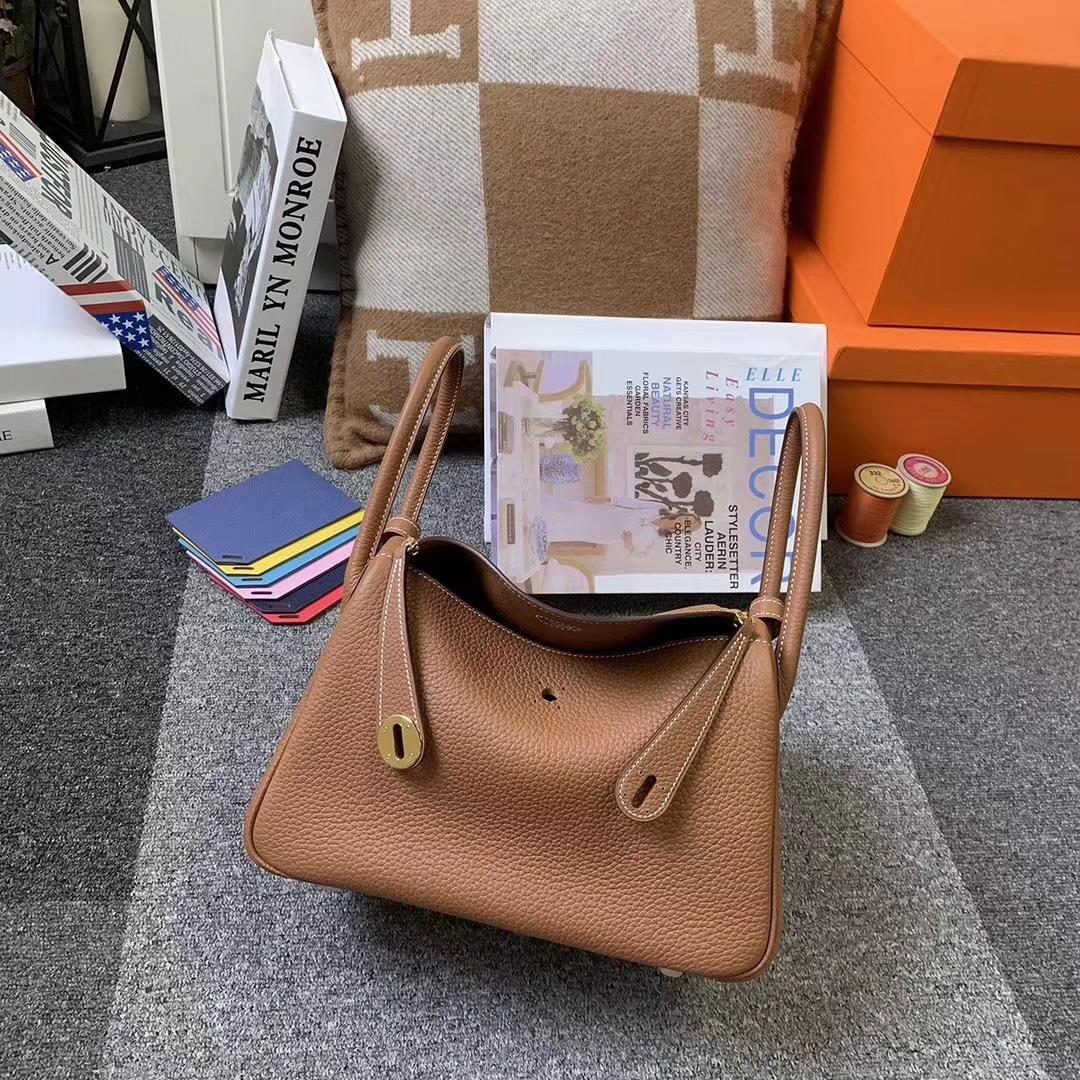 Hermès(爱马仕)C37 金棕色 原厂御用顶级TC皮 Lindy 26 金扣 现货