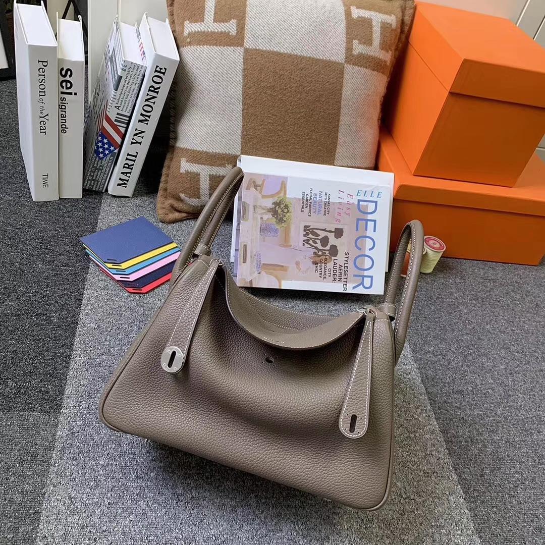 Hermès(爱马仕)CK18 大象灰 原厂御用顶级TC皮 Lindy 30 银扣 现货