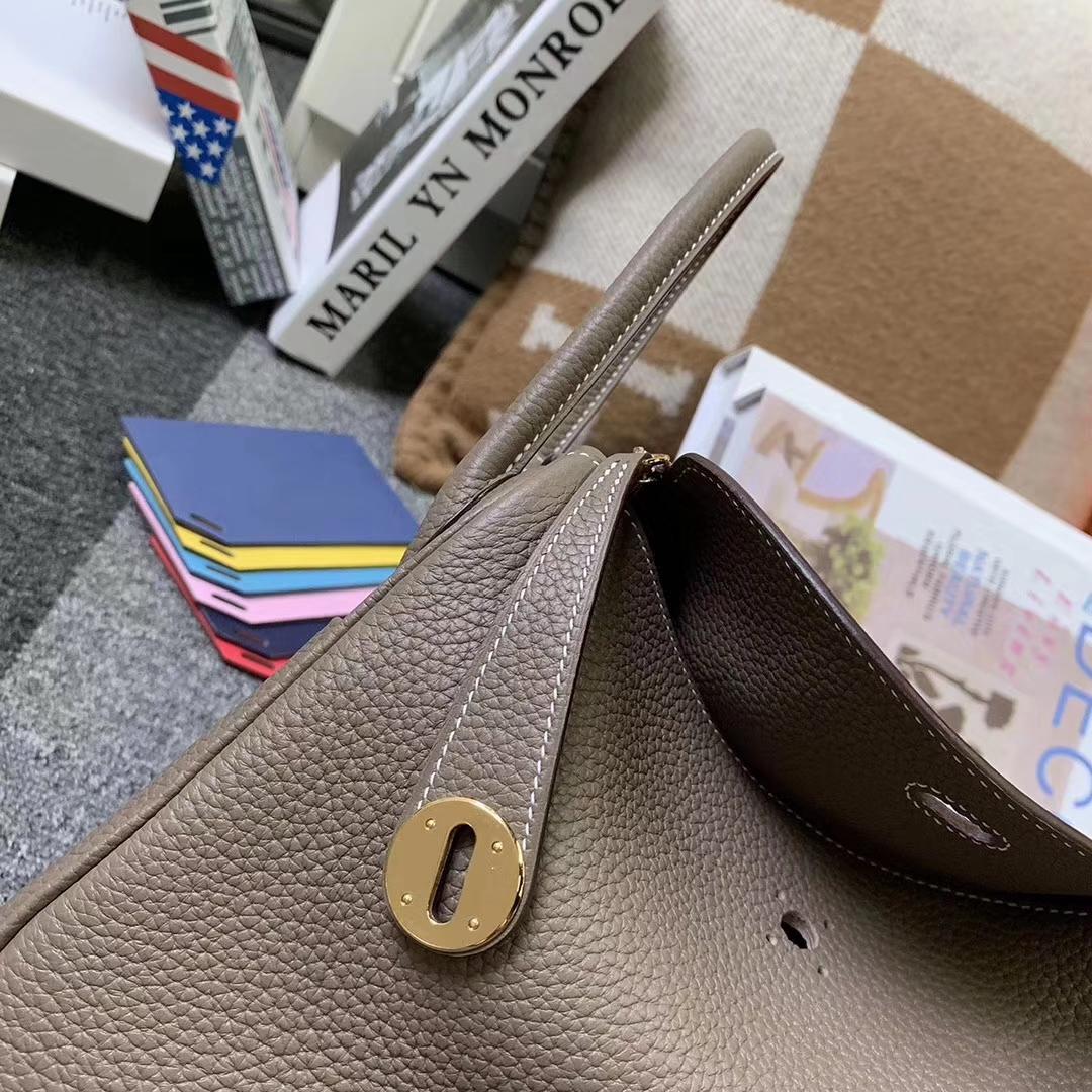 Hermès(爱马仕)CK18 大象灰 原厂御用顶级TC皮 Lindy 26 金扣 现货