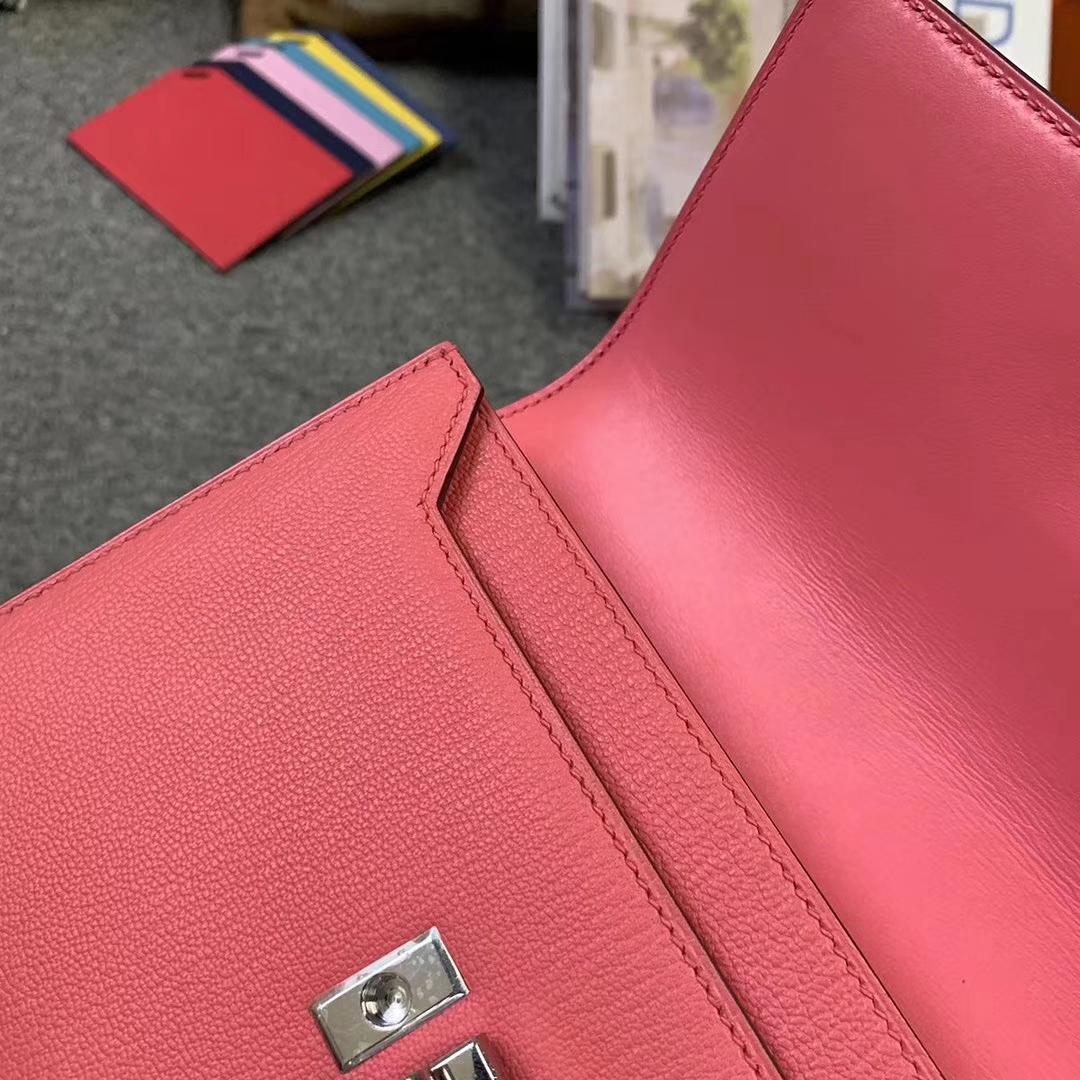 Hermès(爱马仕)U5 唇膏粉 原厂御用顶级山羊皮 Verrou 插销包 现货