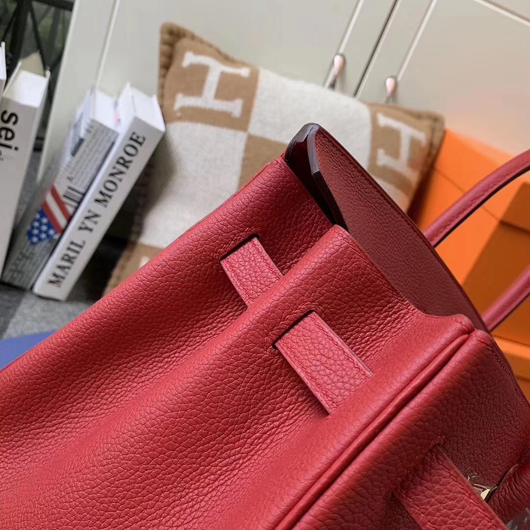 Hermès(爱马仕)Q5 中国红 糖果红 原厂御用顶级小牛皮 Birkin 35 金扣 现货 银扣