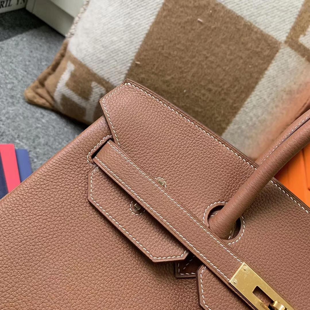 Hermès(爱马仕)C37 金棕色 原厂御用顶级小牛皮 Birkin 35 金扣 现货