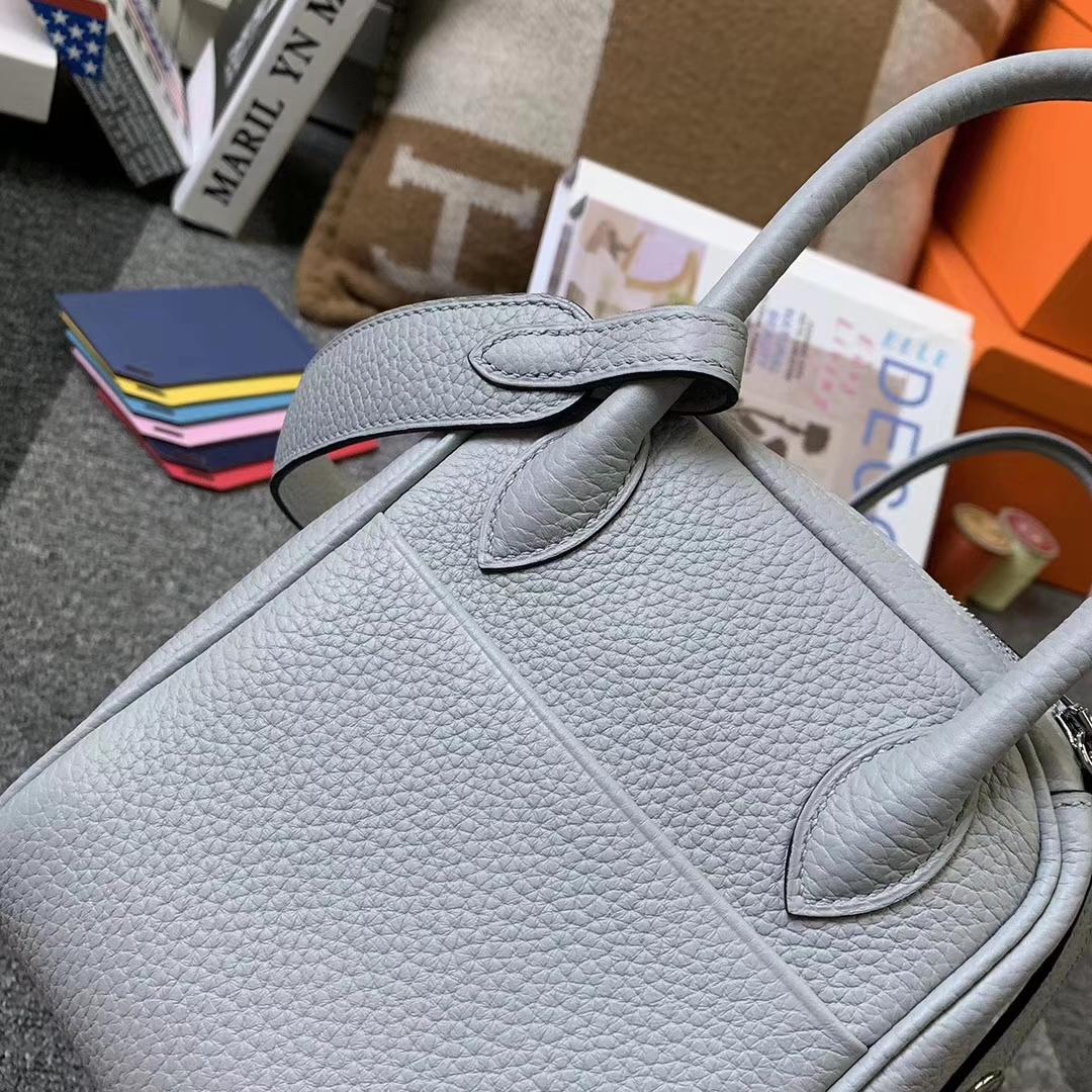 Hermès(爱马仕)8U冰川蓝拼R2玛瑙蓝 原厂御用顶级TC皮 Lindy 26 银扣