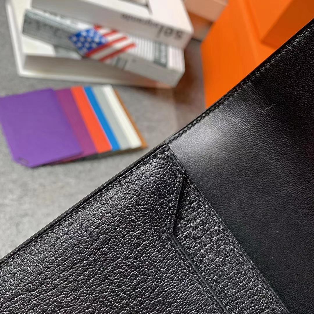 Hermès(爱马仕)黑色 原厂御用顶级山羊皮 Verrou 插销包 现货