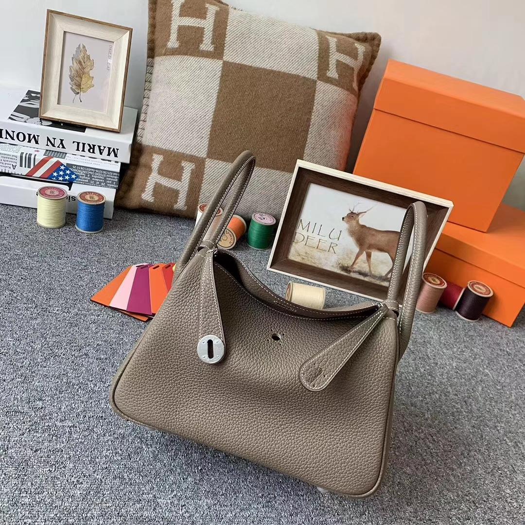 Hermès(爱马仕)CK18 大象灰 原厂御用顶级TC皮 Lindy 26 银扣 现货