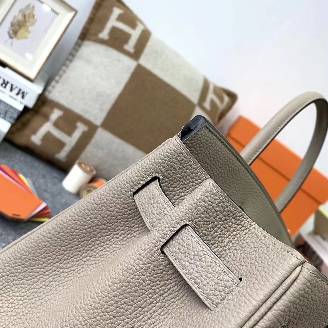 Hermès(爱马仕)CK81 斑鸠灰 原厂御用顶级小牛皮 Birkin 30  玫瑰金扣