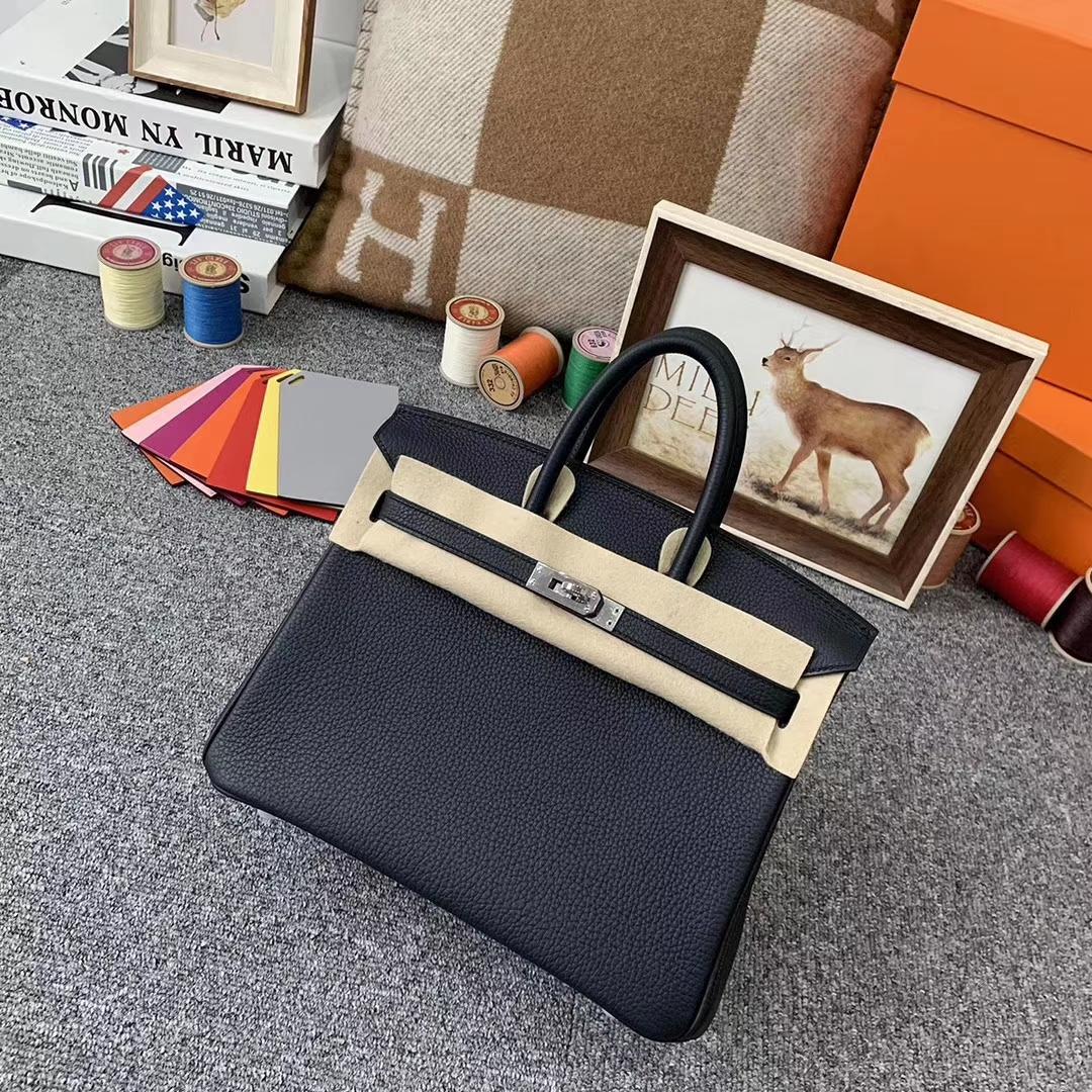 Hermès(爱马仕)6O松柏绿 原厂御用顶级小牛皮 Birkin 25 银扣