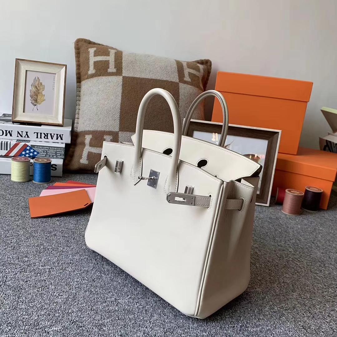 Hermès(爱马仕)奶昔白 原厂御用顶swift皮 Birkin 25