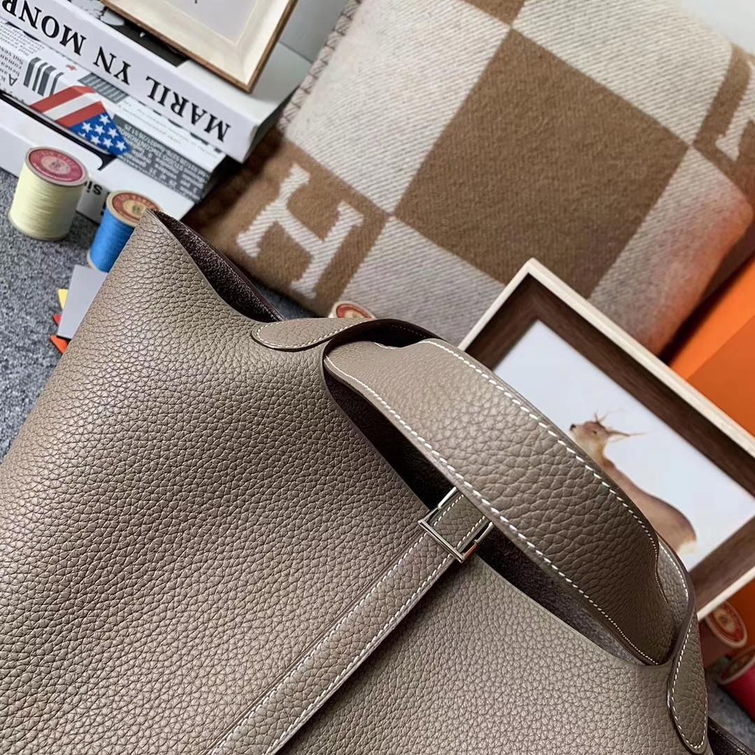 Hermès(爱马仕)CK18大象灰 原厂御用顶级TC 皮 Picotin Lock 22cm 银扣 现货