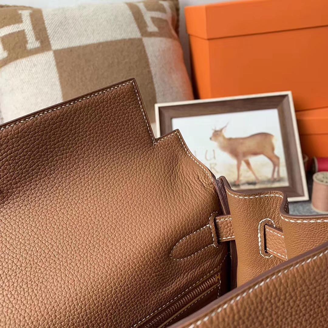 Hermès(爱马仕)C37 金棕色 原厂御用顶级小牛皮 Kelly 32 金扣 现货