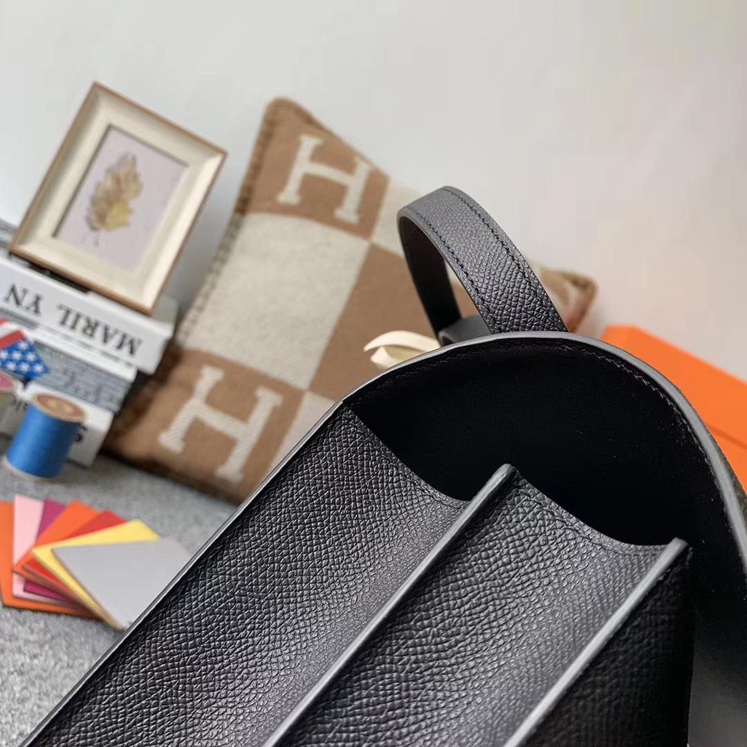 Hermès(爱马仕)89 黑色 原厂御用顶级Epsom 皮 Constance 24 银扣 现货