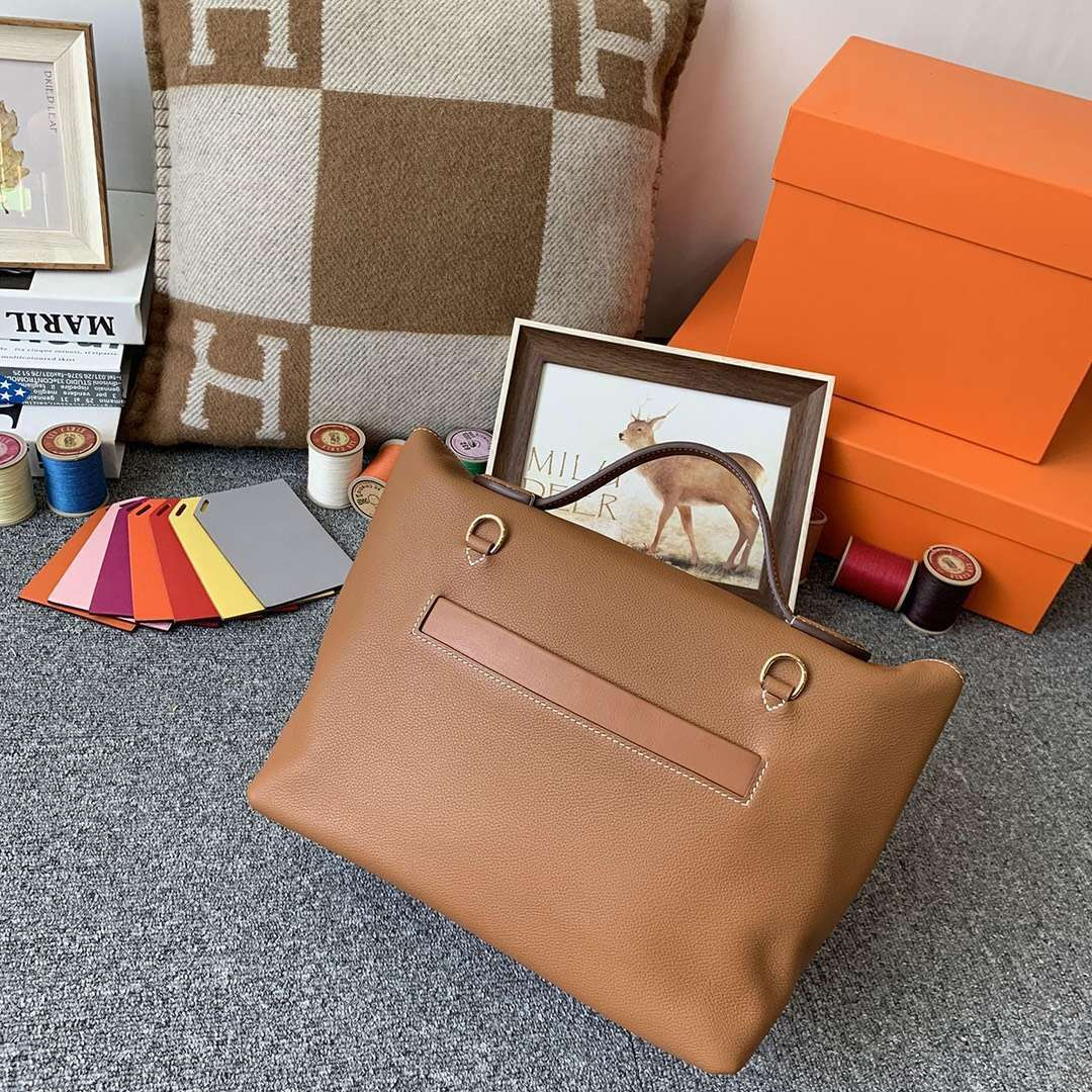 Hermès(爱马仕)C37 金棕色 原厂御用顶级TC皮拼Swift 皮 2424 金扣 现货