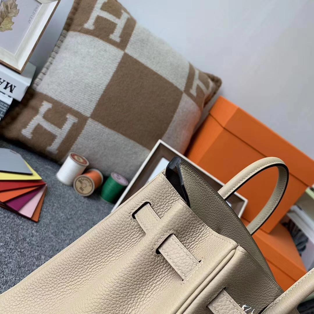Hermès(爱马仕)S2 风衣灰 原厂御用顶级小牛皮 Birkin 25 金扣 现货