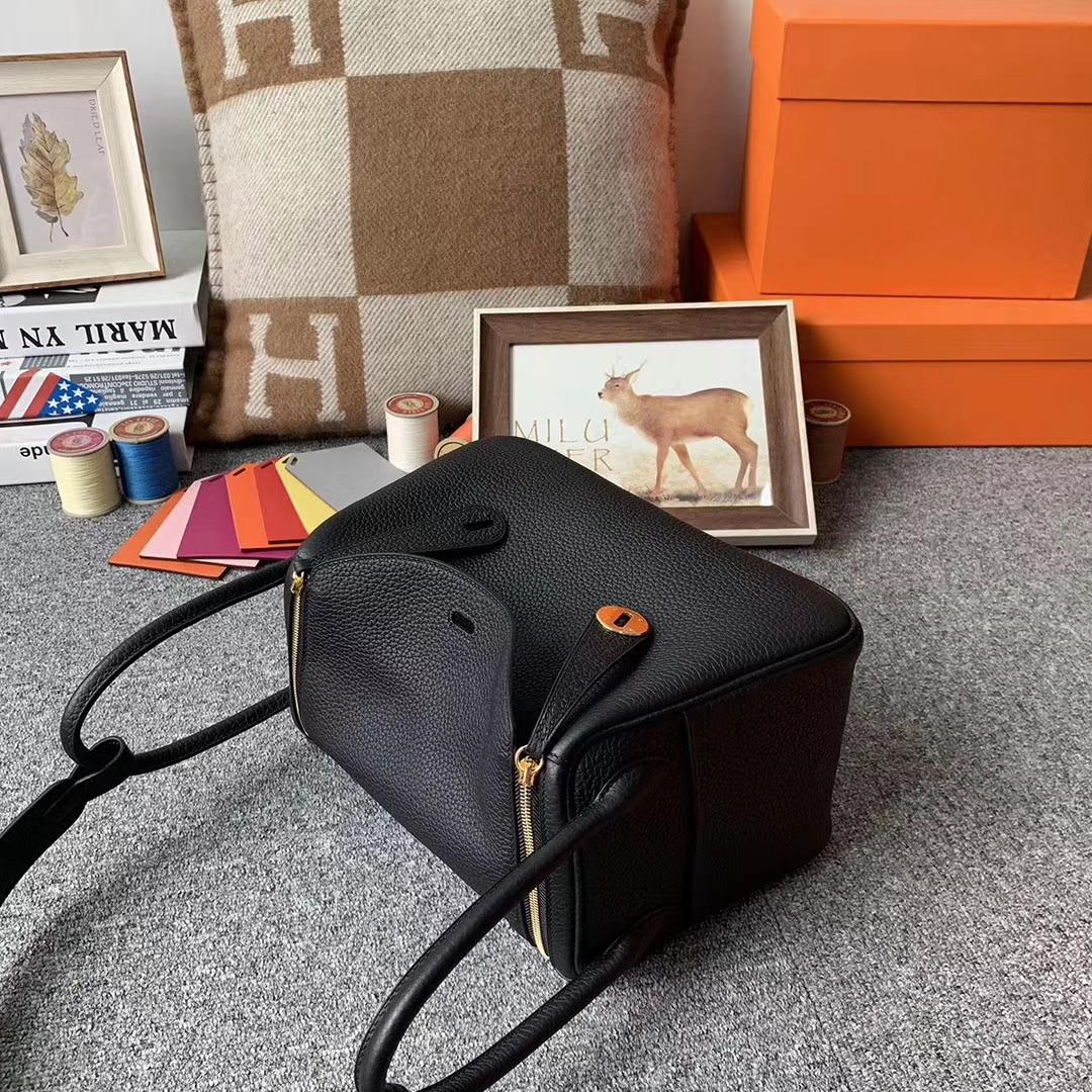Hermès(爱马仕)CK 89 黑色 原厂御用顶级小牛皮 Lindy 26 金扣 现货