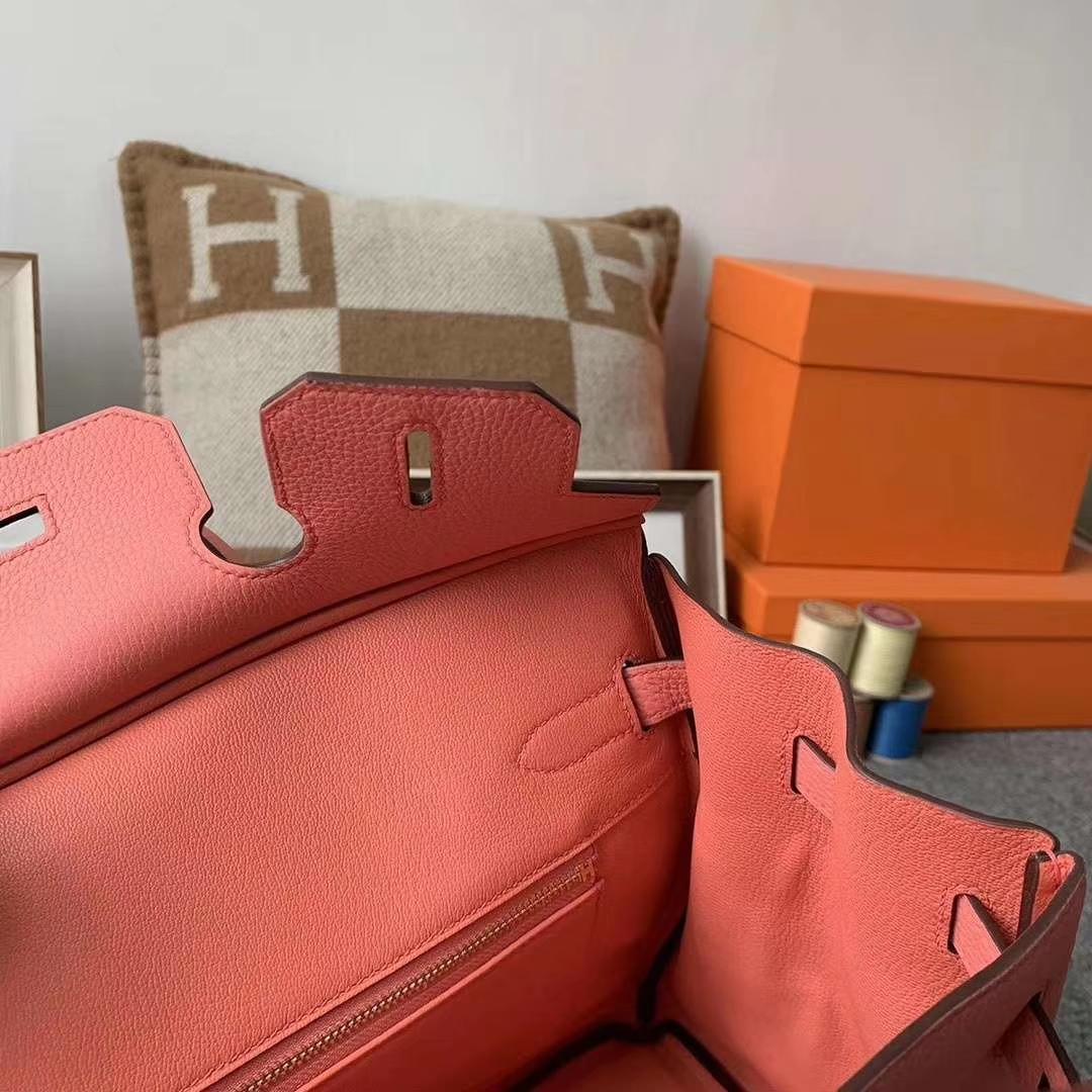Hermès(爱马仕)L5 龙虾粉 原厂御用顶级小牛皮 Birkin 30 金扣 现货