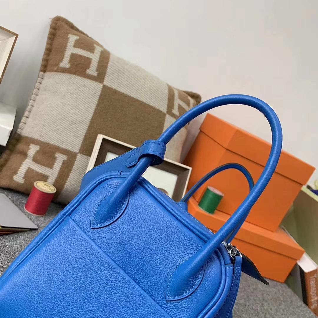 Hermès(爱马仕)B3 坦桑尼亚蓝 原厂御用顶级Ever Color 皮 Lindy 26 银扣