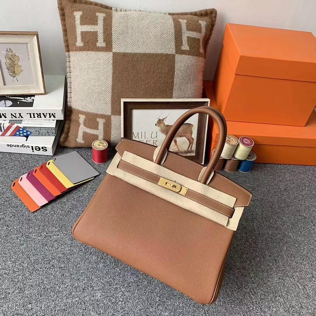 Hermès(爱马仕)c37 金棕色 原厂御用顶级小牛皮 Birkin 30 银扣 现货