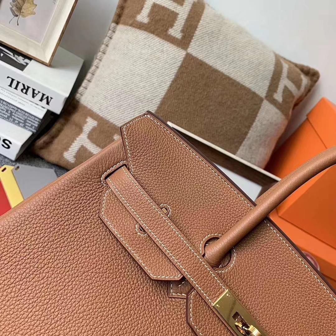 Hermès(爱马仕)c37 金棕色 原厂御用顶级小牛皮 Birkin 35 金扣 银扣 现货
